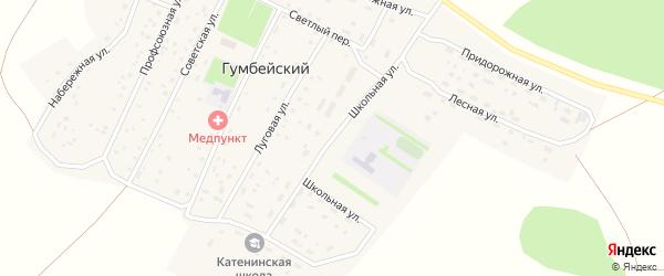 Школьная улица на карте Арсламбаевского поселка с номерами домов
