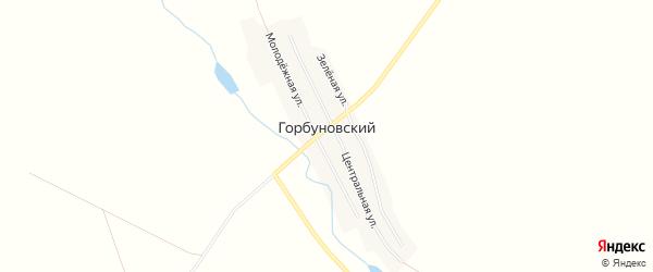 Карта Горбуновского поселка в Челябинской области с улицами и номерами домов
