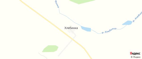 Карта хутора Хлебинки в Челябинской области с улицами и номерами домов