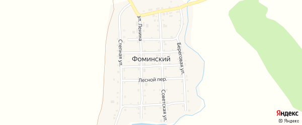 Клубный переулок на карте Фоминского поселка с номерами домов