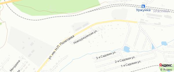 Новоуржумская улица на карте Златоуста с номерами домов