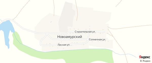 Строительная улица на карте Новоамурского поселка с номерами домов