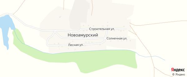 Солнечная улица на карте Новоамурского поселка с номерами домов