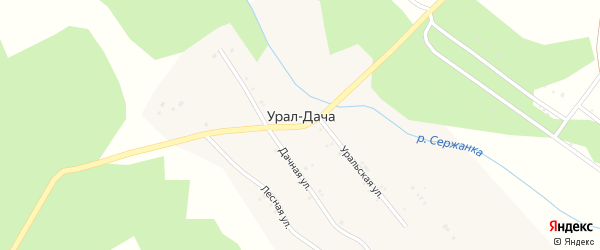 Улица Зеленая Роща на карте поселка Урала-Дачи с номерами домов