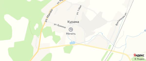 Карта деревни Курамы в Башкортостане с улицами и номерами домов