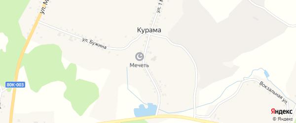 Улица Рината Абдуллина на карте деревни Курамы с номерами домов