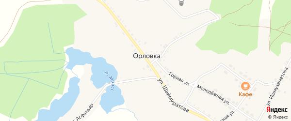 Улица Металлургов на карте деревни Орловки с номерами домов