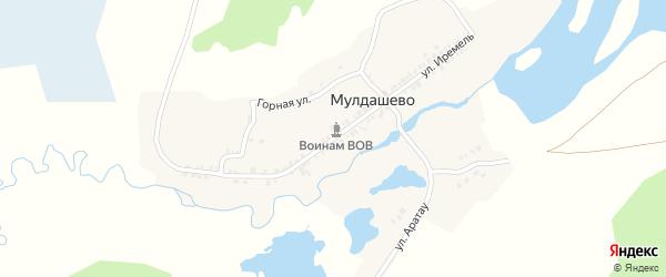 Улица Иремель на карте деревни Мулдашево с номерами домов