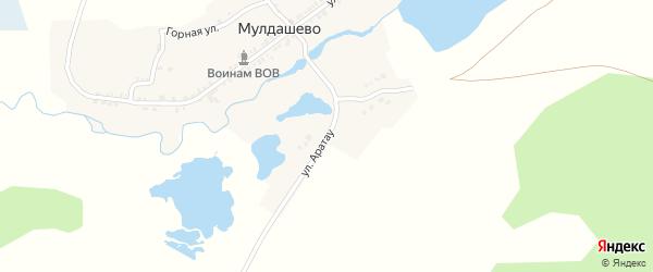 Улица Аратау на карте деревни Мулдашево с номерами домов