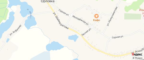 Улица Дружбы на карте деревни Мулдакаево с номерами домов