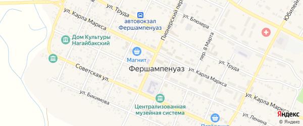 Пионерский переулок на карте села Фершампенуаза с номерами домов