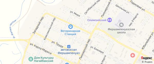 Октябрьский переулок на карте села Фершампенуаза с номерами домов