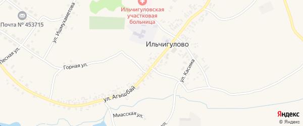 Миасская улица на карте деревни Ильчигулово с номерами домов