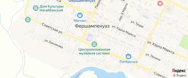 Кооперативный переулок на карте села Фершампенуаза с номерами домов