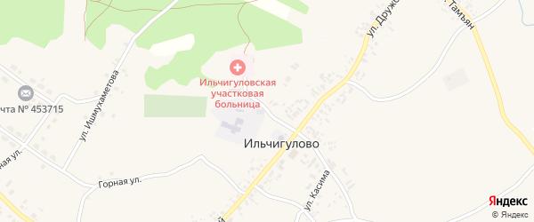 Школьная улица на карте деревни Ильчигулово с номерами домов