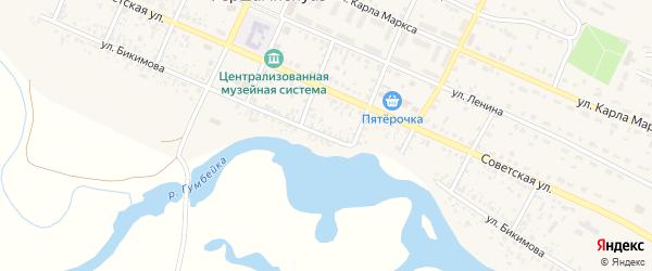 Улица Бикимова на карте села Фершампенуаза с номерами домов