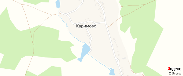 Улица Кызыргалина на карте деревни Каримово с номерами домов