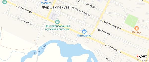 Советская улица на карте села Фершампенуаза с номерами домов