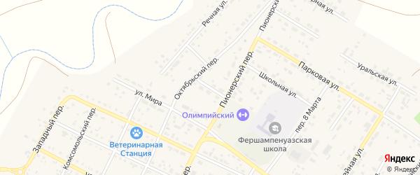 Улица Дружбы на карте села Фершампенуаза с номерами домов