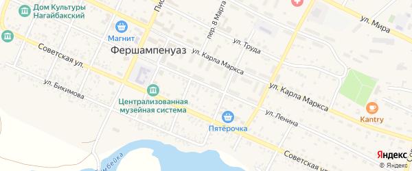 Улица Ленина на карте села Фершампенуаза с номерами домов