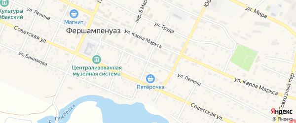 Красноармейский переулок на карте села Фершампенуаза с номерами домов