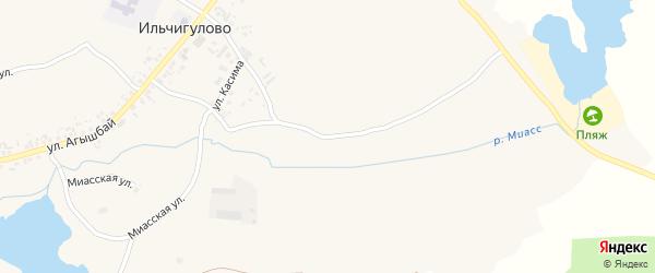 Улица Касима на карте деревни Ильчигулово с номерами домов