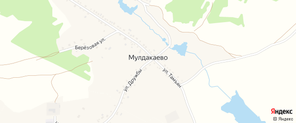 Улица Тамъян на карте деревни Мулдакаево с номерами домов