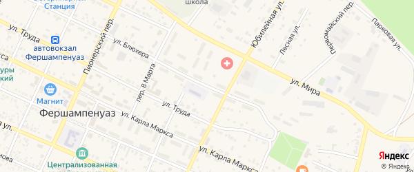 Улица Блюхера на карте села Фершампенуаза с номерами домов