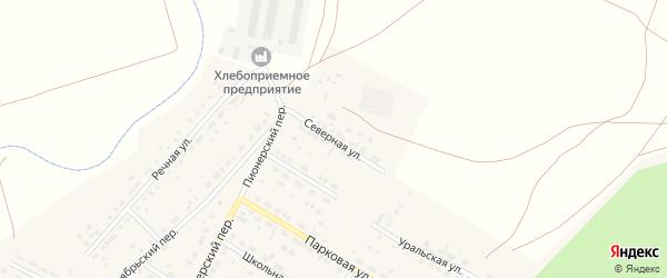 Северная улица на карте села Фершампенуаза с номерами домов