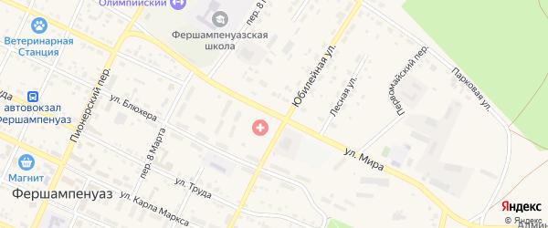 Улица Мира на карте села Фершампенуаза с номерами домов