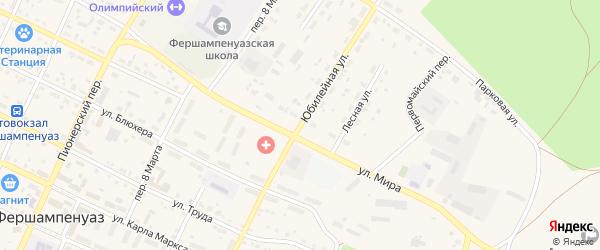 Юбилейная улица на карте села Фершампенуаза с номерами домов