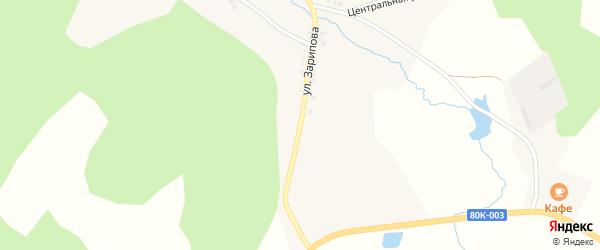 Улица Зарипова на карте деревни Каримово с номерами домов