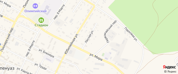 Лесная улица на карте села Фершампенуаза с номерами домов