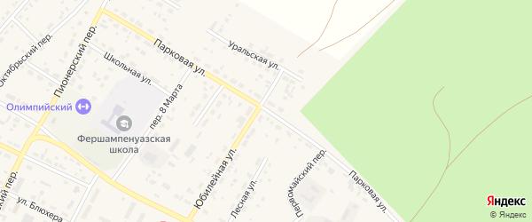 Парковая улица на карте села Фершампенуаза с номерами домов