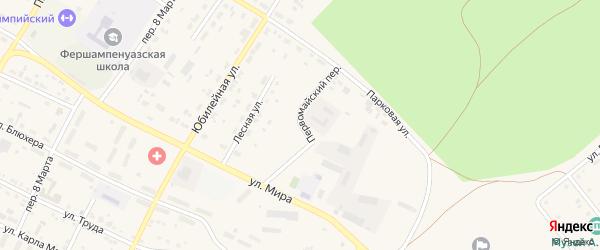 Первомайский переулок на карте села Фершампенуаза с номерами домов