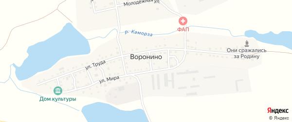 Нагорный переулок на карте села Воронино с номерами домов