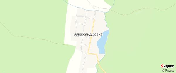 Карта поселка Александровки в Челябинской области с улицами и номерами домов