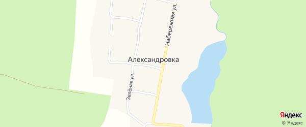 Набережная улица на карте поселка Александровки с номерами домов