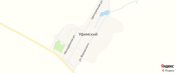 Карта Уфимского поселка в Челябинской области с улицами и номерами домов