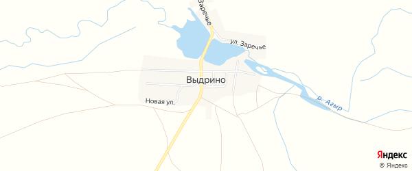 Карта села Выдрино в Челябинской области с улицами и номерами домов