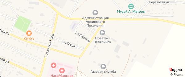 Дальний переулок на карте села Фершампенуаза с номерами домов