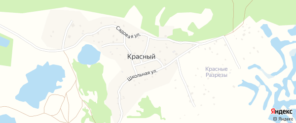 Горная улица на карте Красного поселка с номерами домов