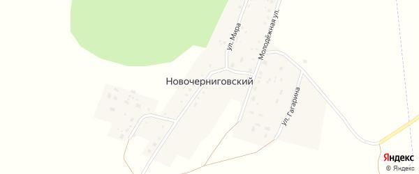 Улица Гагарина на карте Новочерниговского поселка с номерами домов
