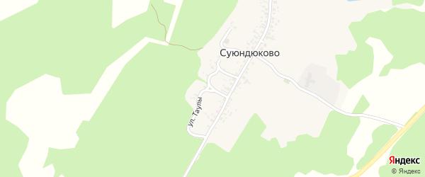 Улица Таулы на карте деревни Суюндюково с номерами домов