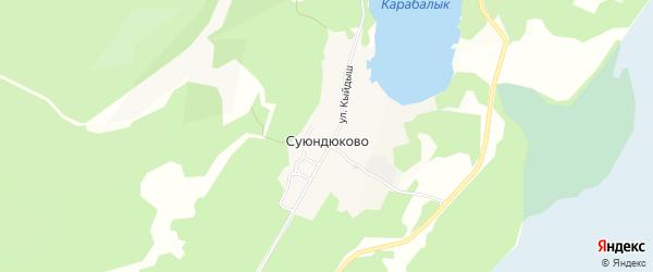 Карта деревни Суюндюково в Башкортостане с улицами и номерами домов