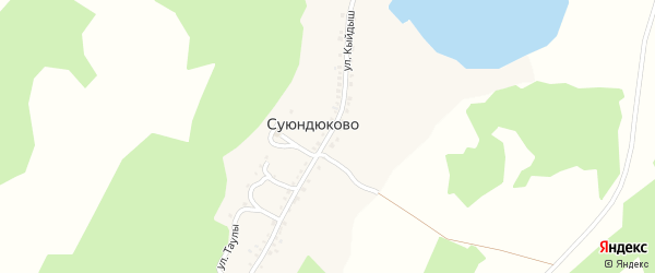 Улица Кыйдыш на карте деревни Суюндюково с номерами домов