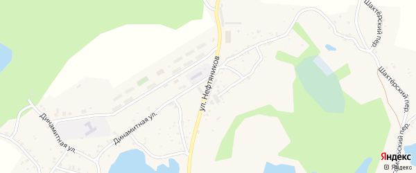 Улица Нефтяников на карте поселка Ленинска с номерами домов