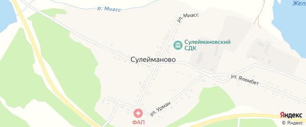 Улица Кара-калпак на карте деревни Сулейманово с номерами домов