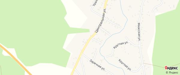 Центральная улица на карте Горного поселка с номерами домов