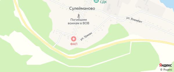 Улица Урман на карте деревни Сулейманово с номерами домов